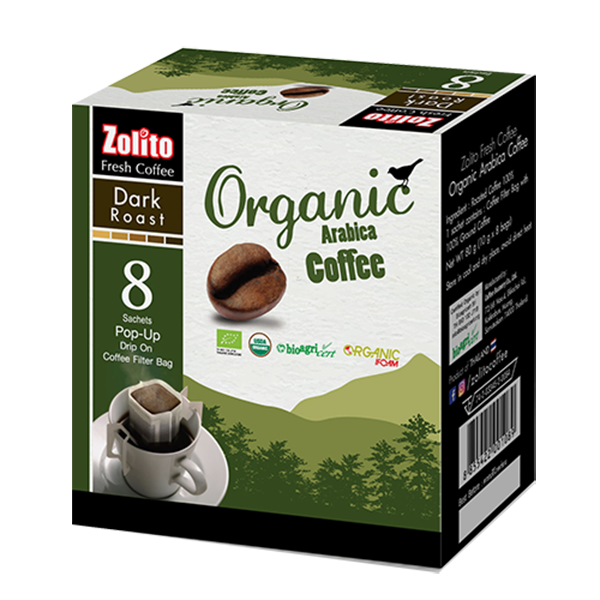 Zolito Organic Coffee Filter Bag Dark Roast