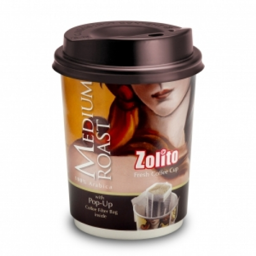 Zolito Fresh Coffee Cup Medium Roast 1 carton : 24 Cup