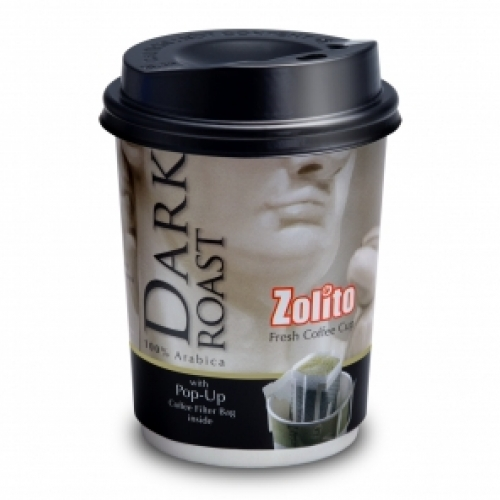 Zolito Fresh Coffee Cup Dark Roast  1 carton : 24 Cup
